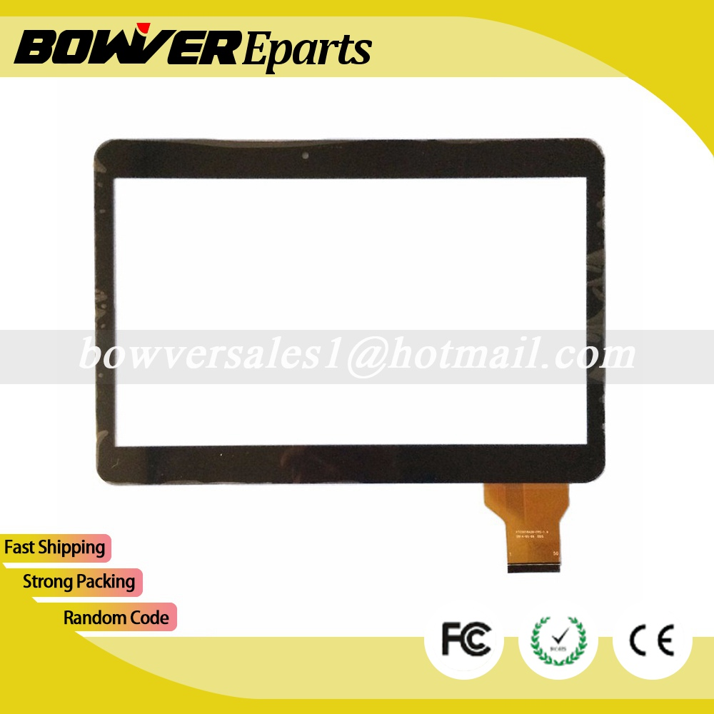 A+ Black /white IRBIS TZ11 TZ12 10.1inch tablet pc capacitive touch screen panel digitizer glass VTC5010A28-FPC-1.0