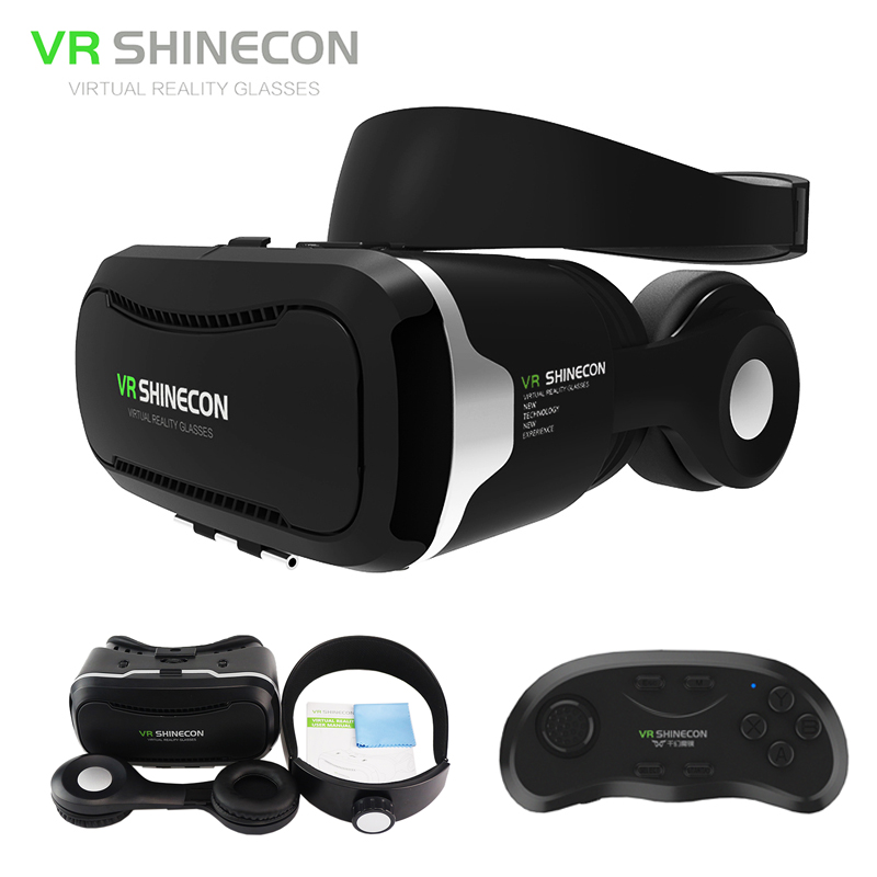 3a7d61024b7 Newest 3D Glasses VR BOX with headphone Virtual Reality 3D Video Glasses VR  helmet for 4.5