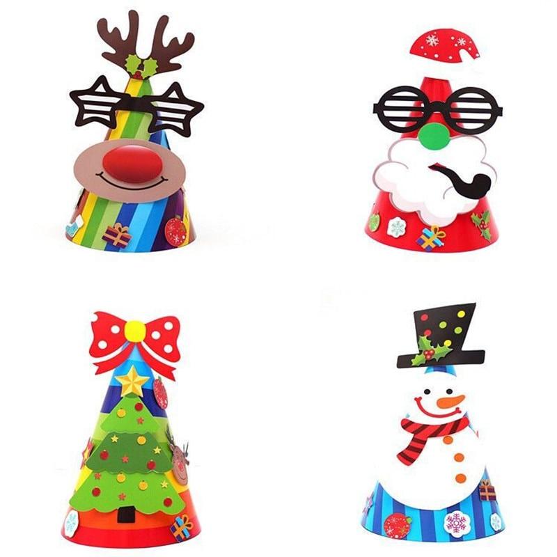 Christmas Tree Hats: 2018 Cute Party DIY Christmas Hat Santa Claus Snowman