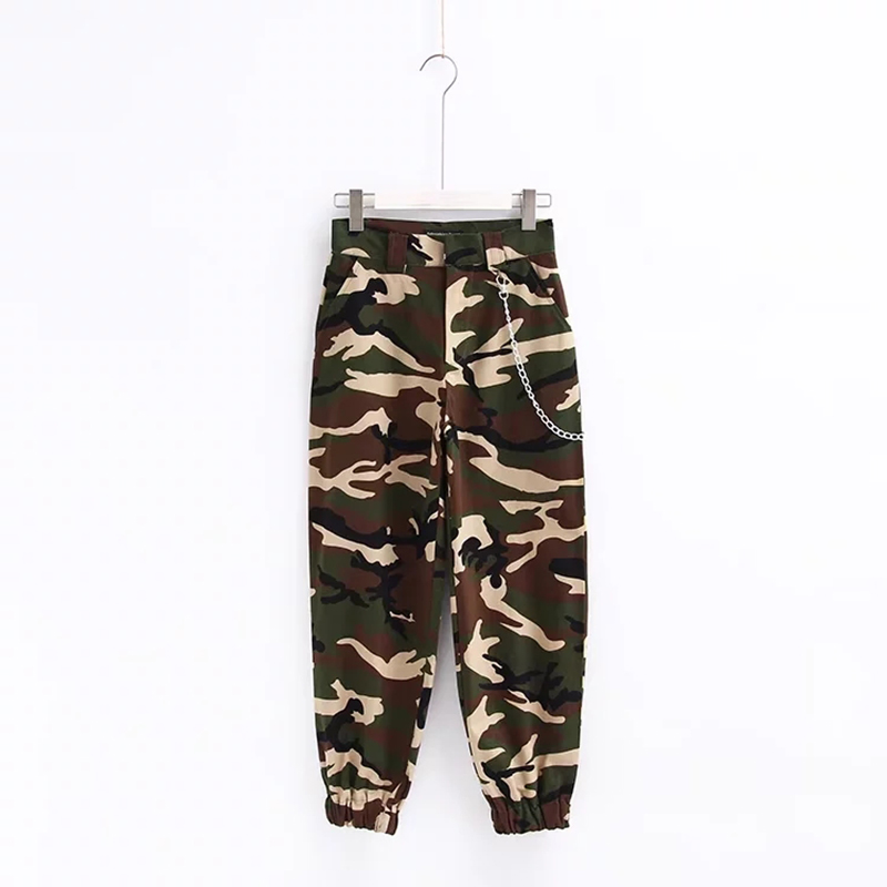 Woman high waist pants loose trousers joggers women camouflage sweatpants street wear 20