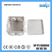 Saip ABS Material Electrical Junction Box With 7 Holes SP-P1-858550 85*85*50