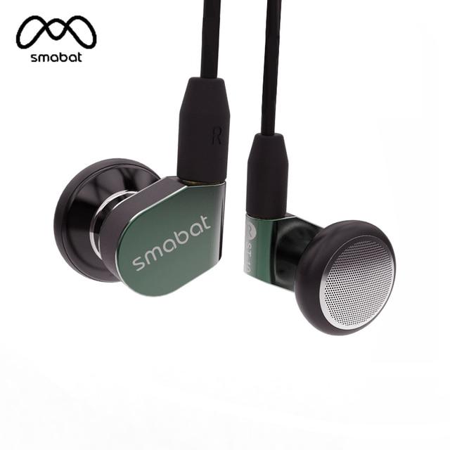 Smbat ST-10 oreja gancho auricular HIFI Metal auricular 15,4mm controlador dinámico smbat insignia auricular con Cable desmontable