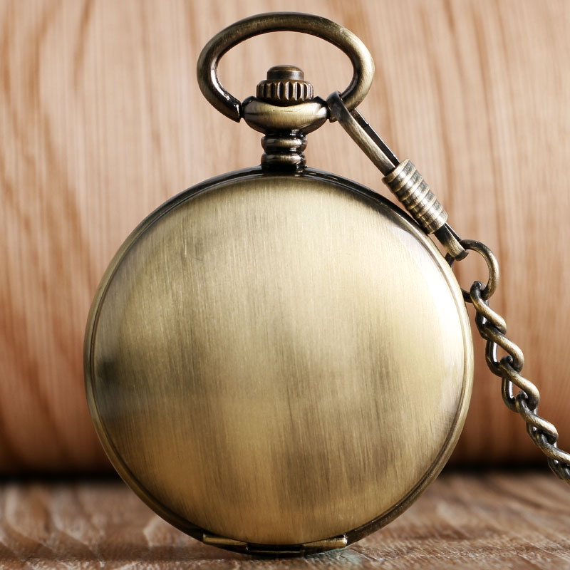 2016 Unique Smooth Noctilucent Mechanical Automatic Pocket Watch With Chain For Men Women Gift Relogio De Bolso