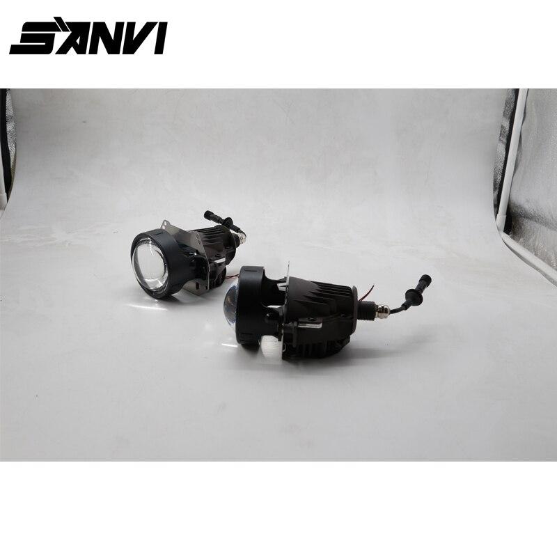 2017 SANVI LED Projector Lens Headlight Cree Chip 3.0 inch 35W 5500K Car Styling Auto Lighting LED Light Source led projector lens headlight with ballast 35w 5500k 3 inch projector lens led car