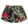 2017 Novos Shorts Mulheres Flor Impresso Causal Calções Boardshorts Casal Férias de Verão Curto