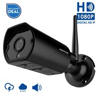 Anpviz WiFi IP camera Outdoor 1080P Waterproof 2MP Wireless Home Security Camera Metal Two Way Audio with Power Adapater