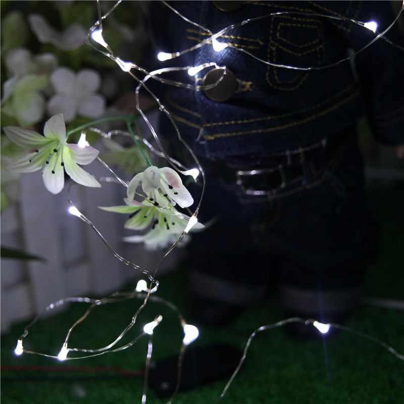 YIYANG новый 2 м Медный Серебряный провод светодиодный струнный светильник водонепроницаемый праздничное освещение сказочная Рождественская елка украшение для свадебной вечеринки