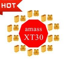 Amass XT30 XT30U Мужской Женский Цилиндрический разъем для RC Lipo батареи оптом для RC Lipo батареи квадрокоптера мультикоптера