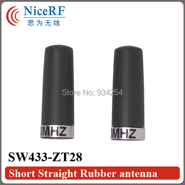 6pcs/lot SW433-ZT28 433MHz Small Straight Rubber Antenna For Free Shipping