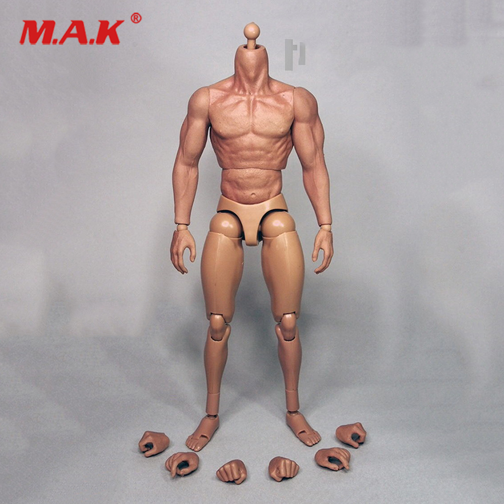 1/6 Male 12 Strong Muscular Figure Body Doll Plastic Seamless Arms Doll 3.0 Fit 12 Hot Toys Head 1 6 figure doll afghanistan civilian fighter asad the soviet afghan war 1980 12 collectible figure doll plastic model toys