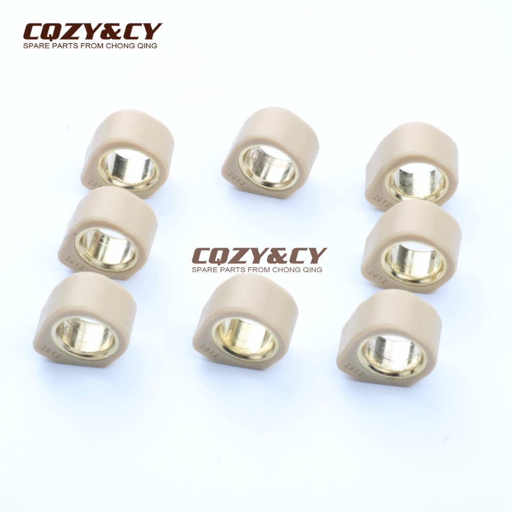 8PC Racing Quality Roller Weights 20x12mm 11g For KYMCO Downtown I 300 09-11 Downtown Abs - Abs I 300 10-12