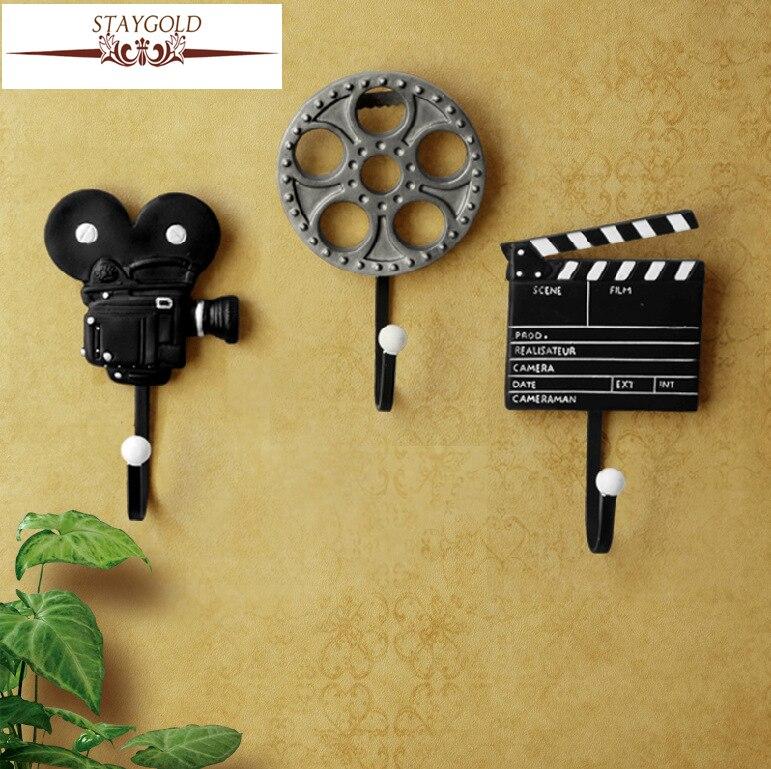 Shabby Chic Wall Hanger Coat Vägghakar För Coat Hooks Heminredning Tillbehör Film Utrustning Vintage Hooks 3pcs / set