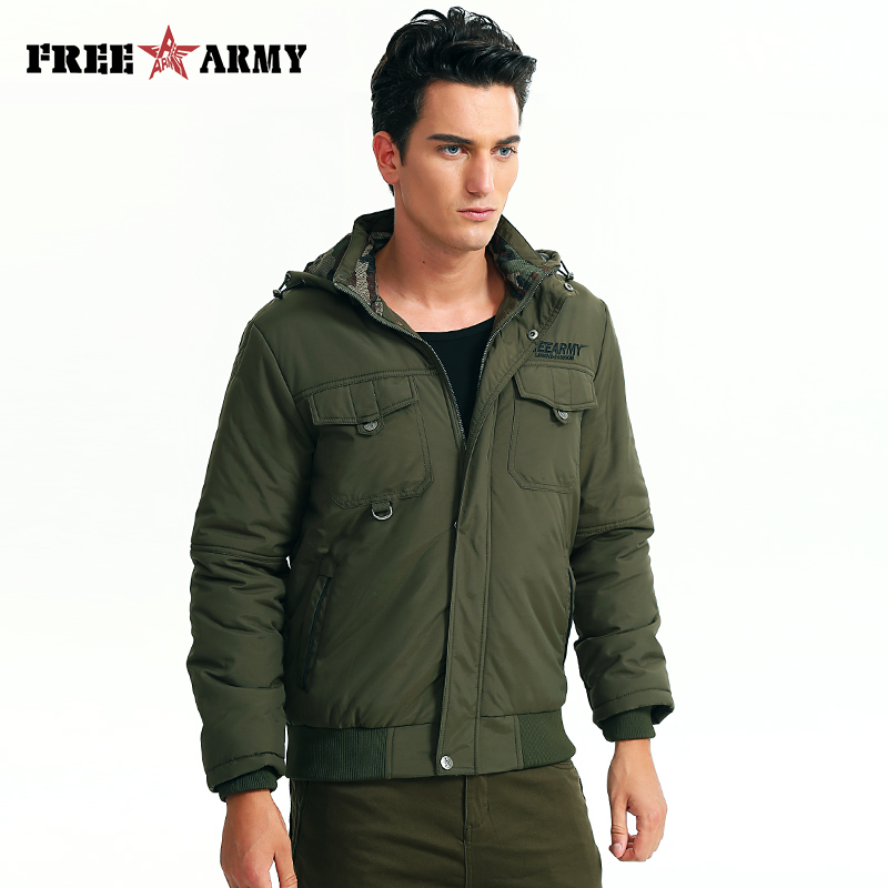 60291bf29ed New Autumn Winter Jacket Male Brand Military Jacket High Quality Washing  Cotton-Padded Army Green Men's Casual Jackets Coats