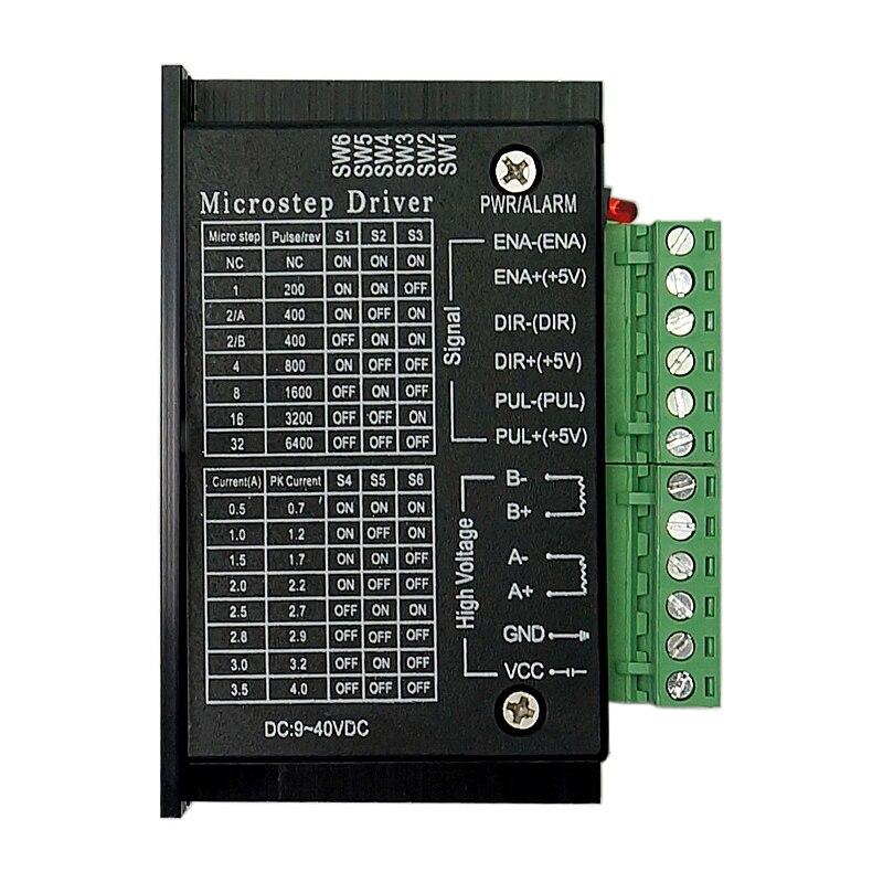 42/57/86 TB6600 router de madera máquina de controlador de motor paso a paso 32 segmentos versión mejorada 4.0A 42VDC de kits