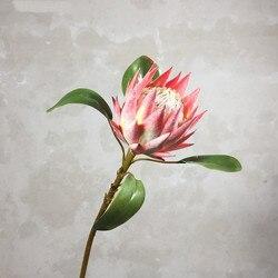 الرعوية نمط 1 قطعة ورد صناعي جميلة الملك بروتي اليدوية الزهور الاصطناعية عرض ديكور المنزل الحرير الزهور