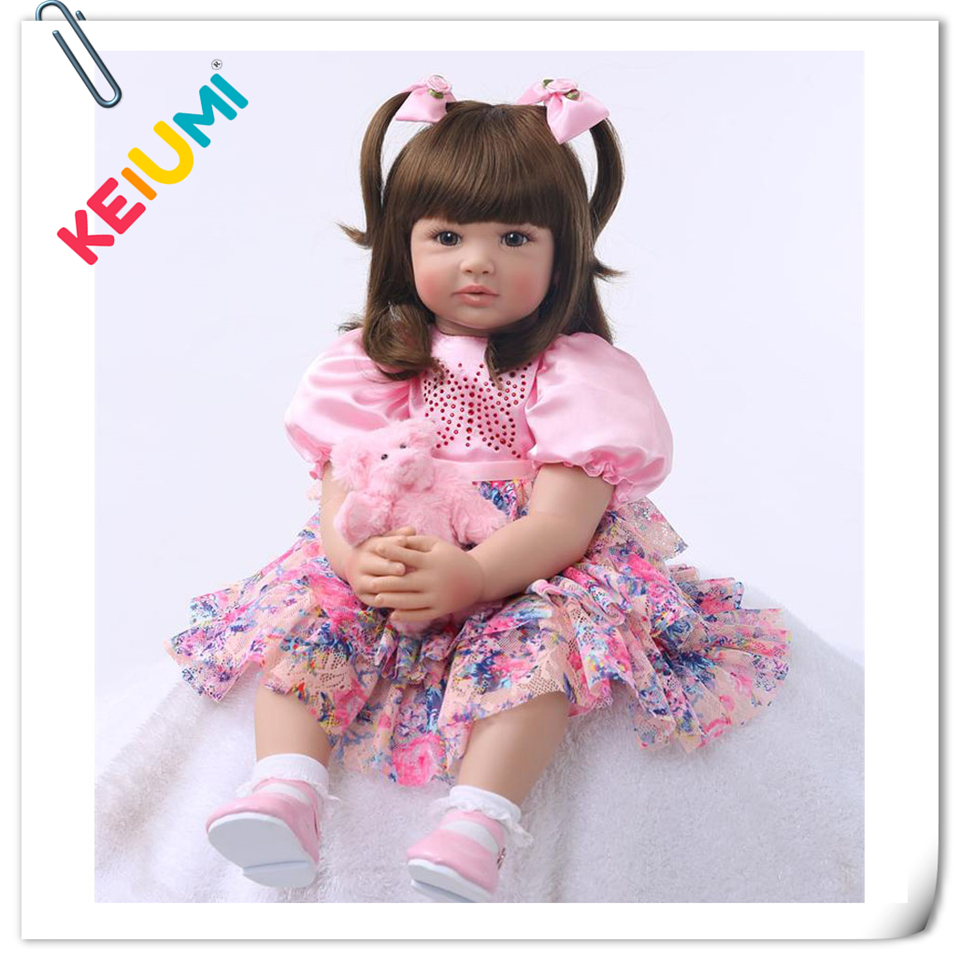 Fashion 22 Inch KEIUMI Stuffed Dolls Soft Silicone Reborn Babies 55 cm Girl Playmate Reborn Dolls Baby For kids Birthday Gift