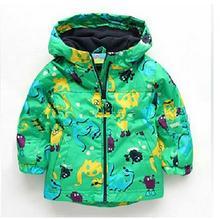 2015 горячий источник осень дети мальчики одежды куртки от ветра верхняя одежда мальчики динозавров кардиган пальто