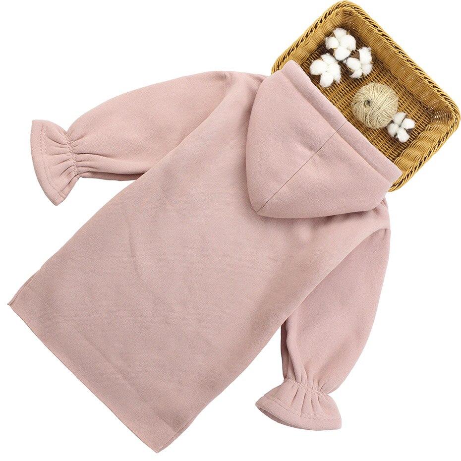 Image 2 - Dresses For Girls Letter Pattern Girls Dresses Hoodies Thick Warm Winter Dress For Girl Teenage Kids Costume 6 8 10 12 13 14Dresses   -