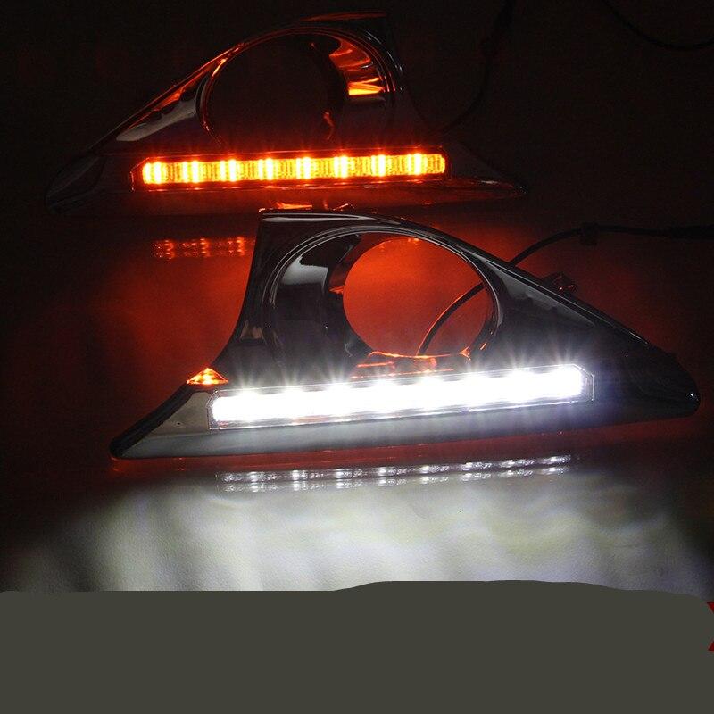 Tcart ДХО для Камри авто 2011-2014 СИД DRL дневного света с алюминиевой задней крышки