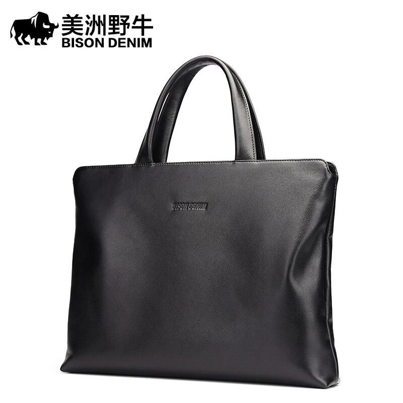 0b018a7a4736c ... 2018 البيسون الدنيم العلامة التجارية حقيبة يد الرجال حقيبة Genui.