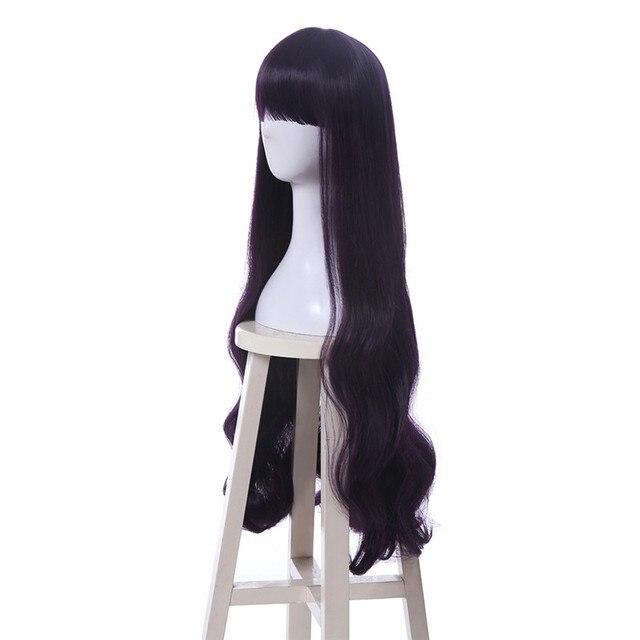 L-email Новинка, парик для косплея Sakura Daidouji Tomoyo, 80 см, фиолетовый термостойкий синтетический волос, парики для косплея