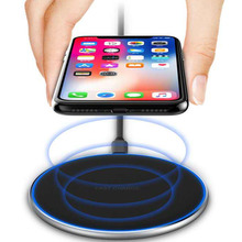 10W Qi Wireless Charger for iPhone X/XS Max XR 8 Plus Visible Element Charging pad Samsung S9 S10+ Note 9