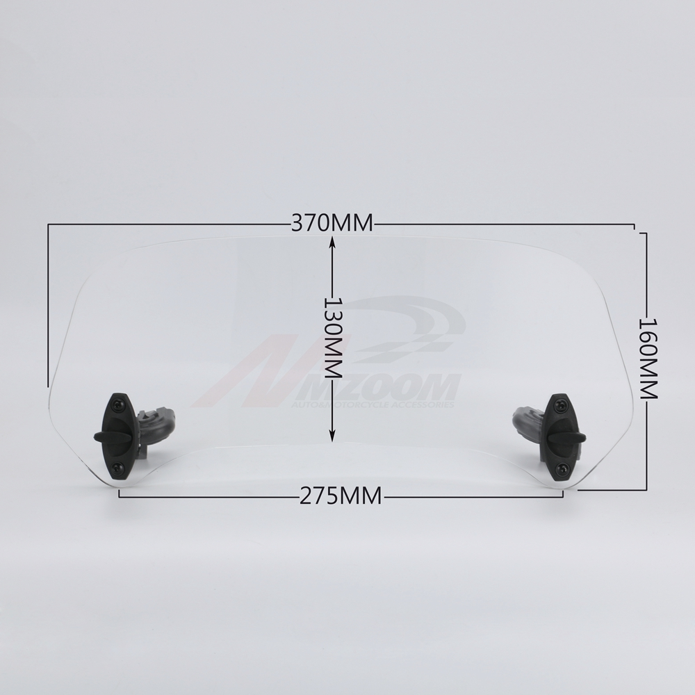 Pièces de moto Clip réglable sur l'extension de pare-brise Spoiler pare-brise déflecteur d'air pour BMW Honda Suzuki Yamaha Kawasaki - 3