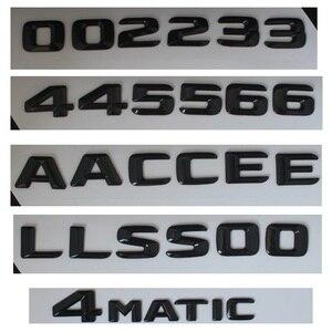 Image 4 - 3D 광택 블랙 C117 CLA 자동차 엠 블 럼 CLA45 CLA180 CLA200 CLA220 CLA250 엠 블 럼 배지 스티커 자동 터보 로고 메르세데스 벤츠 AMG