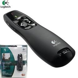 JSHFEI Hot Sales  R400  Wireless RF Remote  Control IR PPT Presenter 2.4 GHz USB Laser Pointer Presentation Presenter Pen