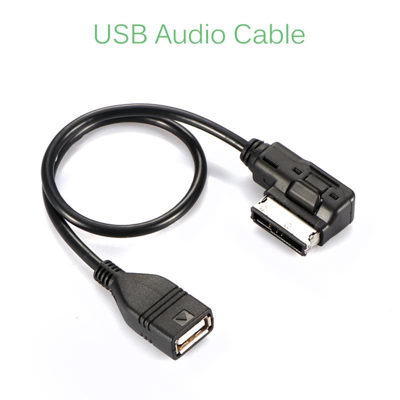 Onever AMI MMI MDI to USB Female Audio Cables Data Sync Charging Adapter for AUDI A3 A4L A5 A6L A8 Q3 Q5 Q7(China)