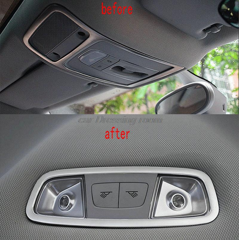 Car reading lamp panel decorative cover trim stainless steel strip accessories dome light frame 3D sticker for Audi A3 Q3 car accessories chromium parts 2017 16 modified stainless steel window trim bright decorative windows for buick encore page 8