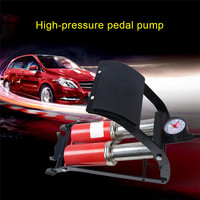 Auto Pump Foot Air Pump Portable Double Cylinder High Pressure Steel No Slip Pump For Bicycle