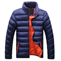 Men casual warm Jacket solid thin breathable Winter Jackets Mens Outdoors Coat Lightweight Plus size XXXXL parka