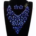 Nueva joyería de moda Pink resina colgante gargantilla collar llamativo