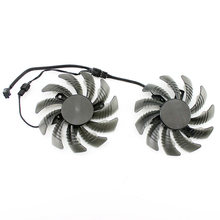 Free Shipping POWER LOGIC PLD08010S12H 12V 0.25A 75mm 40*40*40mm For Gigabyte GV-N960O Graphics Card Cooling Fan 3Pin 2pcs lot t128010sm pld08010s12h 75mm fan for gigabyte graphics card cooler cooling fan