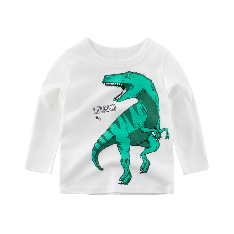 Kids Boys T Shirt Car And Dinosaur Print Long Sleeve Baby Girls T Shirts Cotton Children 39 s T Shirt O Neck Tee Tops Boy Clothes in T Shirts from Mother amp Kids