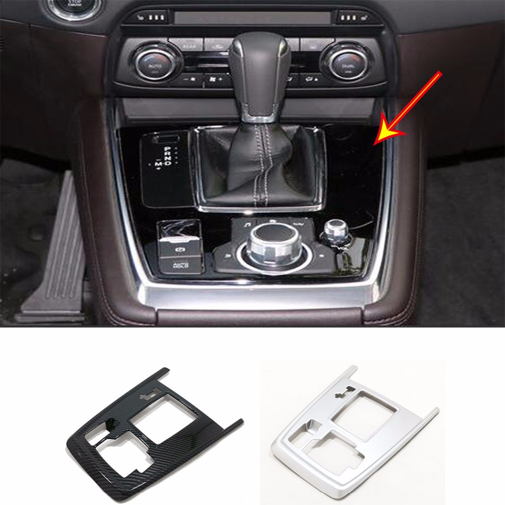 ABS Inner Gear Shift Box Panel Cover Trim For Mazda CX-8 2018 2019
