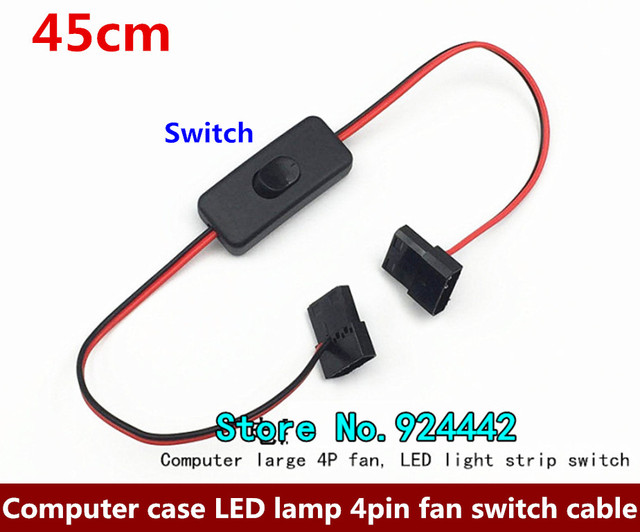 Computer case LED strips fan cable 4pin 4p switch cable DIY ide 4pin ...