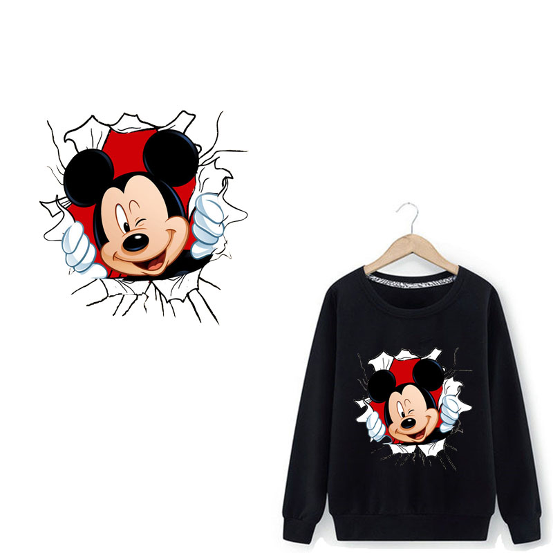 XUNZHE DIY Vinyl Hot Heat Thermal Transfers For Shirt Stickers Iron On Applique Embroidery Flower Patches For Clothes Cartoon