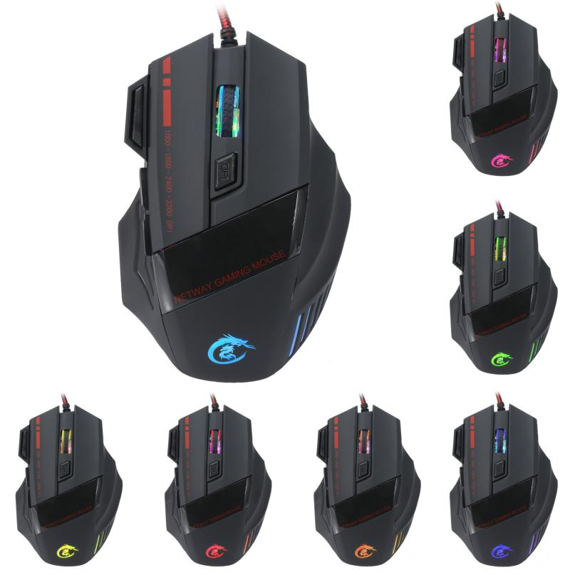 Hot Sale New 3200 Dpi 7d Led Optical Usb Wired Pro Professional Game Mouse For Pc Laptop Gaming For Lol Dota Cf Very Nice 25