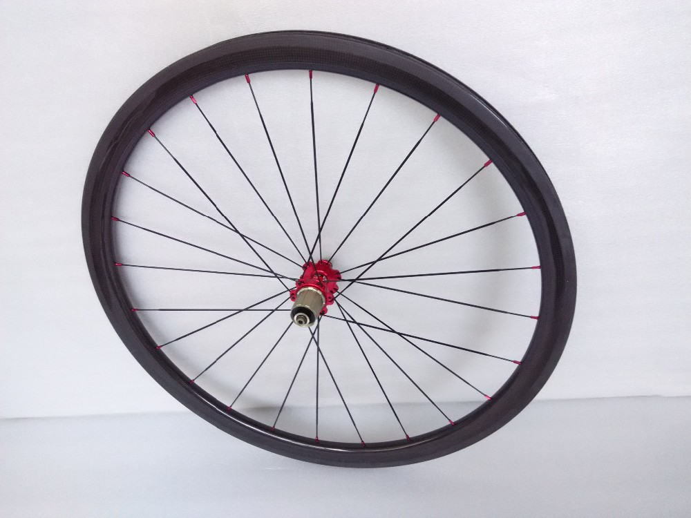 Cheapest price Chinese carbon wheels 700C road bike clincher 38mm wheelset (8)