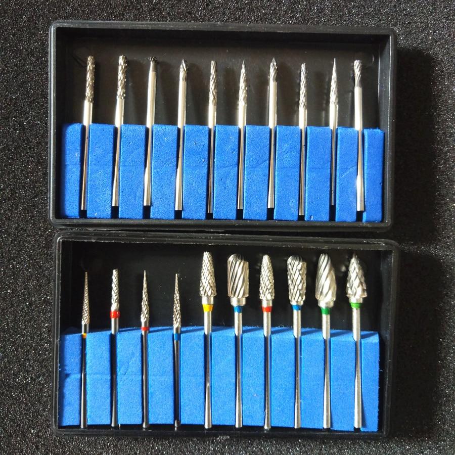 Tungsten Carbide Burs Steel Dental Burs Set Diamond Burs Dental Lab Material Tungsten Steel Grinding Head Rotary Burs