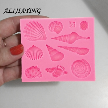 1Pcs DIY Lovely Shell Starfish Conch Sea Silicone Mold Fondant Cake Decorating Tools Soap Mold Cake Chocolate D0542 1