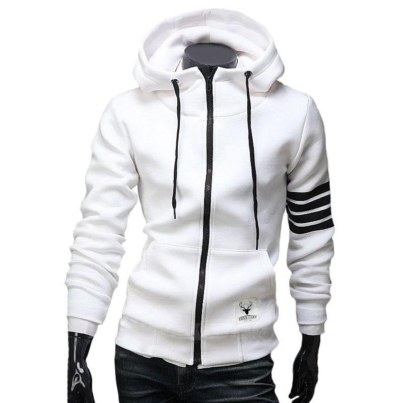 6b91dfa6c Men's Hoodies Sweatshirt Casual Male Hooded Jacket Long Sleeve Slim Design  Mens Zipper Hoodie Black /White Color-in Hoodies & Sweatshirts from Men's  ...