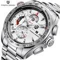 PAGANI DESIGN Chronograph Sport Uhren Männer Luxus Marke Quarzuhr Volle Edelstahl Dive 30M relogio masculino weiß-in Quarz-Uhren aus Uhren bei