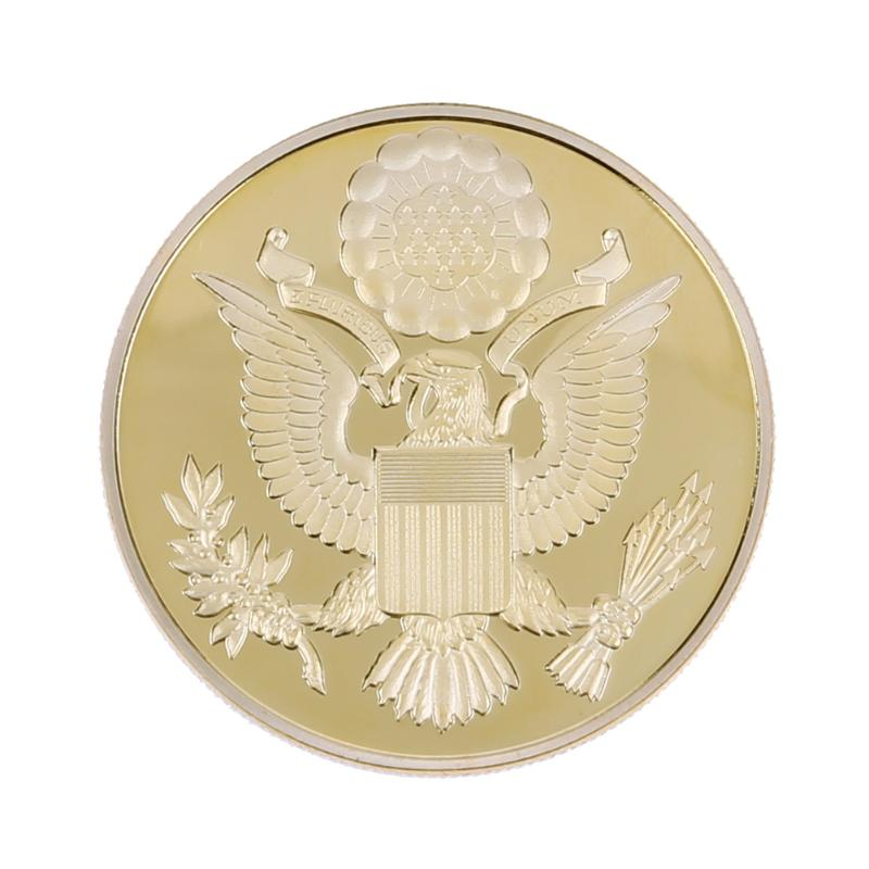 38mm Dia. Gold Plated Electroplating Metal Travel Bitcoin Commemorative Coins Collectible Art Collection Souvenir Gifts