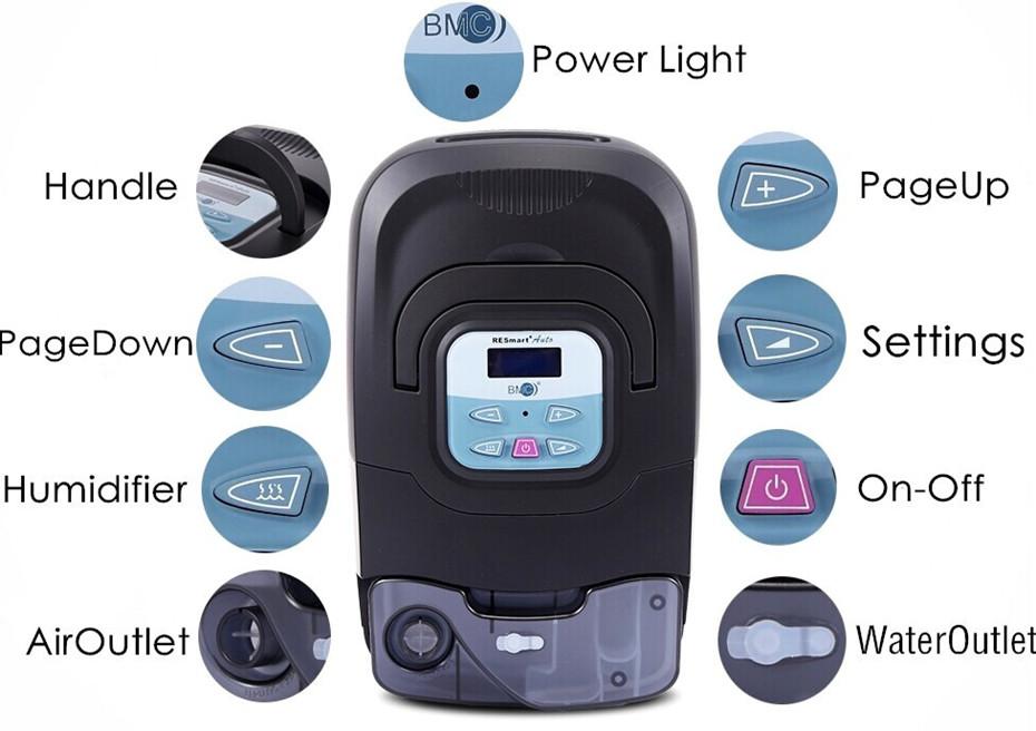 Doctodd GI APAP Auto CPAP GI APAP Machine for Sleep Snoring And Apnea Therapy APAP With Humidifier Nasal Mask Tubing and Bag (18)