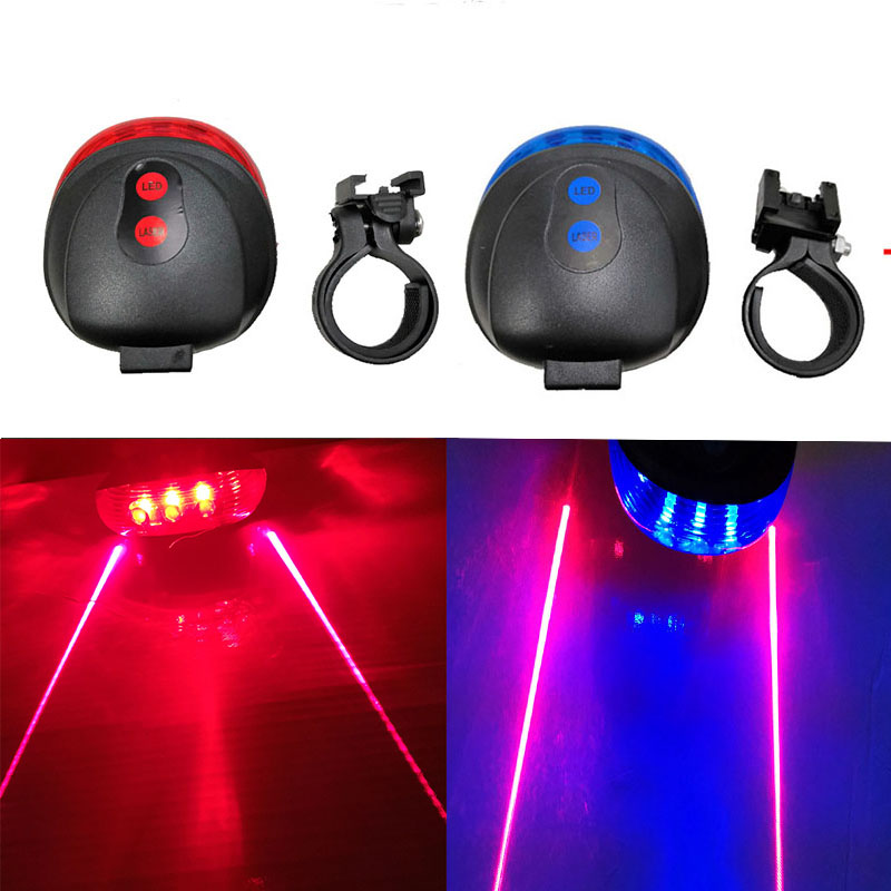 Bicycle Tail Light (5LED+2Laser) Waterproof Cycling Bike Light 7 Cool Flash Mode Bike Rear Lights For Bike Accessories Lights121 (7)