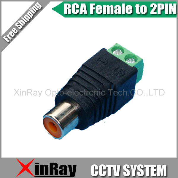 Free Shipping 10pcs RCA Female TO 2Pin Adapter,Camera DVR Connector,CCTV Accessories ,Wholesale XR-AC30 free shipping xr 1020cn xr 1020acn xr1020cn filter double pin porcelain dip ic