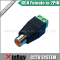 Frete Grátis 10 pcs RCA Fêmea PARA Adaptador 2Pin, Conector Da Câmera DVR, CCTV Acessórios, atacado XR-AC30